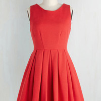 Vintage Inspired Short Length Sleeveless A-line Cue the Compliments Dress