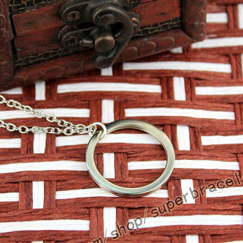 The Lord of the rings, silver rings necklace, necklace charm (beautiful), daily necklace, one of the best gifts