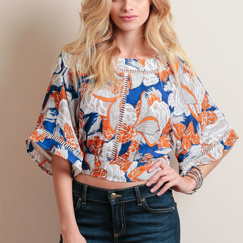 Mandrake Grove Printed Crop Top