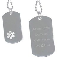 Medical ID Dog Tag with Personalization | 4AllGifts