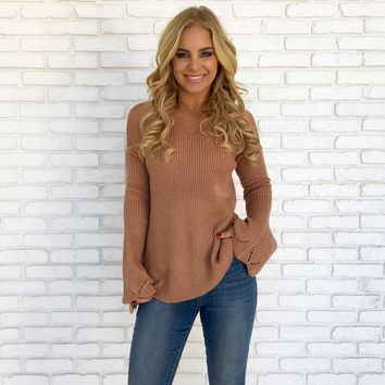 Anywhere With You Sweater in Mauve