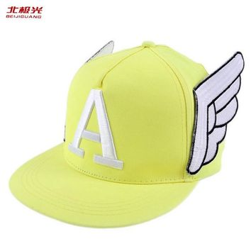 Trendy Winter Jacket Summer Letter Baseball Caps Sun Hats Women Spring Snapback Embroidery Caps Adjustable Outdoor Cap Child & Adult Angel Wings Hat AT_92_12