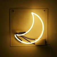 Crescent Moon Neon Sign | Urban Outfitters