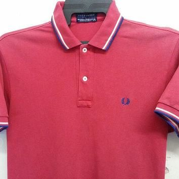 Sale Vintage 1980s 90s Fred Perry Ringger Skin Head Punk Mods Fashion Oioi Polo Shirt