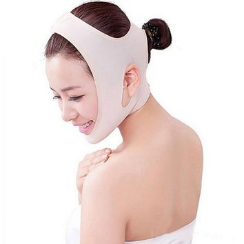 Wrinkle V Face Chin Cheek Lift Up Slimming Ultra-Thin Belt Strap Band Cotton Corsets Bustier Massager Face Mask For Face Massage