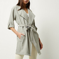 Light grey tie front jacket - jackets - coats / jackets - women