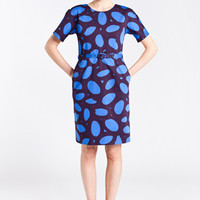 Apparel: Marimekko Nada dress in blue, brown | Marimekko Store