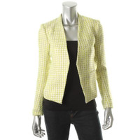 Theory Womens Knit Lined Open-Front Blazer