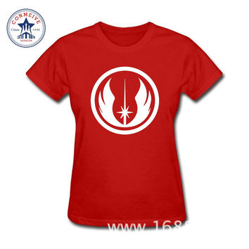2017 Teenage Youth Funny Movie Star Wars The Force Awakens Jedi Order Logo Cotton T Shirt for women