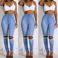 new Hole Ripped Jeans for Women size  sml
