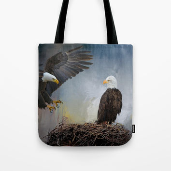 Eagles Nest Tote Bag by Theresa Campbell D'August Art