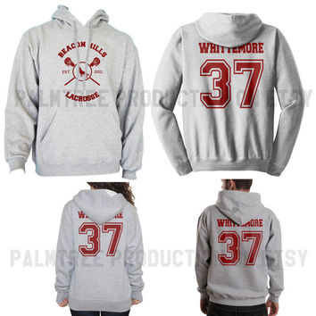 Whittemore 37 Beacon Hills Lacrosse Teen Wolf Unisex Hoodie S to 3XL Heather Grey