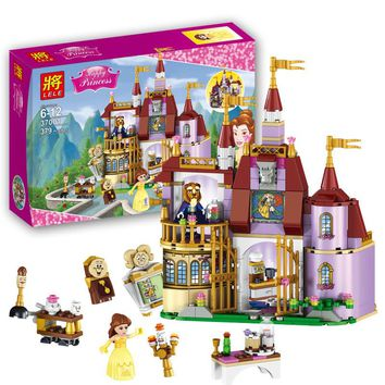 37001 Beauty and The Beast Princess Belle's Enchanted Castle Building Blocks Girl Kids Toys Compatible with Legoe