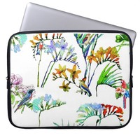 Tropical flora and fauna laptop sleeve