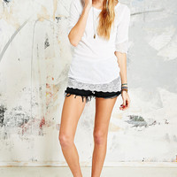 Free People Scallop Tee in White - Urban Outfitters