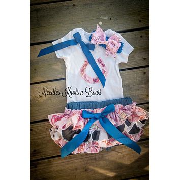 Baby Girls Western Wear, Western Cowgirl Outfit, First Birthday Outfit, Girls Western Pageant Outfit, Birthday Girl