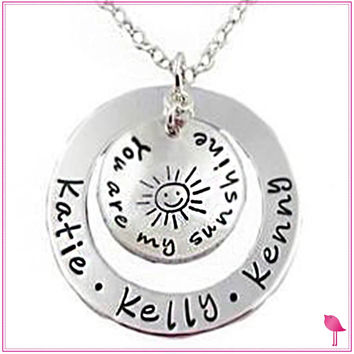 You Are My Sunshine Personalized Bling Chicks Necklace