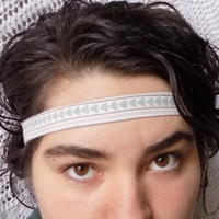 Subtle Blue/ Green Arrows Aztec Headband-VIntage Fabric - Free Shipping to Continental US