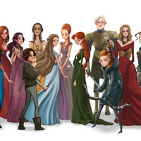Women of GAME of THRONES (Song of Ice and Fire) art painting print, signed by Leann Hill