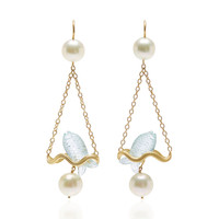 One-Of-A-Kind Aquamarine Renaissance Fish Earrings | Moda Operandi