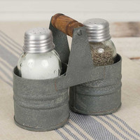 Mason Jar Salt and Pepper Can Caddy