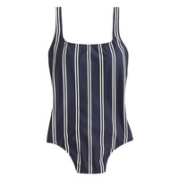 J.Crew Womens Double-Stripe Scoopback One-Piece Swimsuit