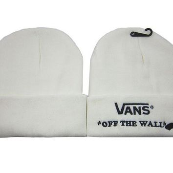 VANS Women Men Embroidery Beanies Winter Knit Hat Cap-1