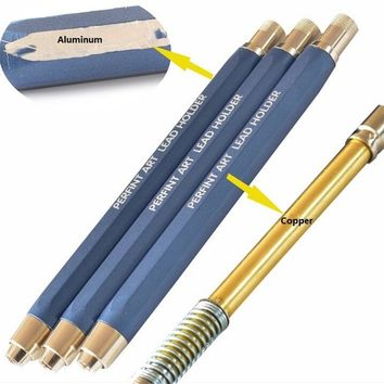 5.6mm Mechanical pencils with five boxes 30 leads aluminum automatic pencils school stationery propelling pencil free shipping