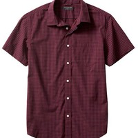Banana Republic Mens Factory Red/Blue Shirt