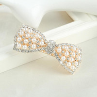 Korean Fashion Women Pearl Crystal Hairgrips Bow Butterfly Knot Hair Accessories For Women Ladies LY SM6
