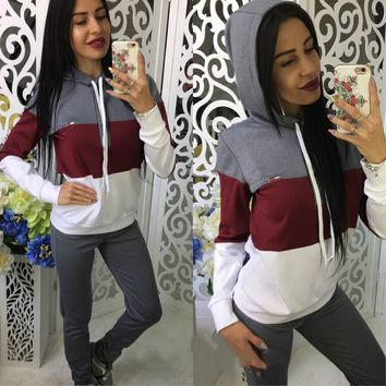 Women's Fashion Sports Casual Sportswear Set [11055910087]