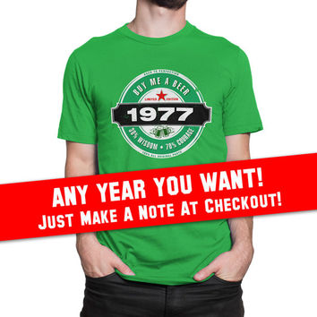 40th Birthday Gift - Buy Me a Beer - Limited Edition - born in 2017 - 1977 Aged To Perfection 100% Original Parts T-shirt Gift idea BB-1977