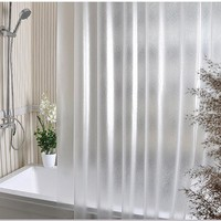 Waterproof Transparent Clear White Shower Curtain 100% PEVA Bath Shower Bathroom Use Home Decor