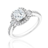 Forevermark Cushion Diamond Halo Ring 1 5/8ctw