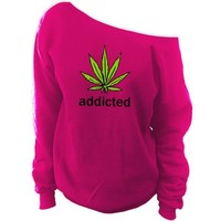 Addicted to Mary Jane Off-The-Shoulder Oversized Slouchy Sweatshirt
