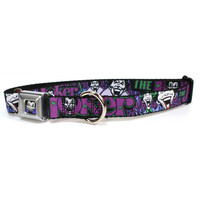 Joker - Face/Logo/Spades Dog Collar