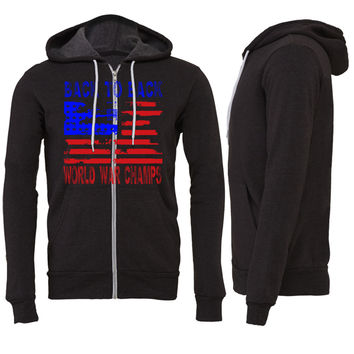 back to back world war champS Zipper Hoodie