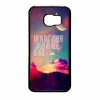 Perks Of A Wall Flower Quote Design Vintage Retro Samsung Galaxy S6 Case