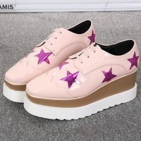 Patent Leather Skater Shoes With Metallic Star Designs on Luulla