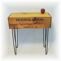 Shipping Crate TABLE 1952 ENCYCLOPEDIA AMERiCANA  by MrsRekamepip