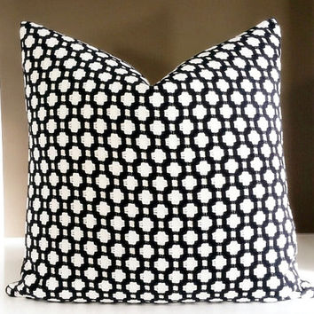 Decorative throw pillows, Black and White betwixt pillow cover with knife edge, Fabric both sides, all sizes available