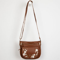 T-Shirt & Jeans Floral Embroidered Crossbody Bag Cognac One Size For Women 23511440901