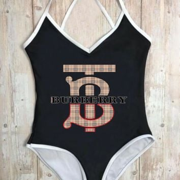 burberry Summer New Fashion Women One Piece Swimsuits Swimwear Bikini Suit