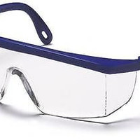 Pyramex Integra SN410S Clear Lens Blue Safety Glasses Adjustable Job Eyewear