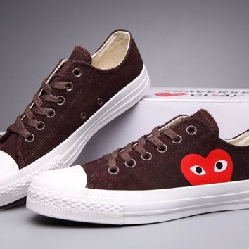 kuyou Converse Comme Des Garcons Suede Chuck Taylor All Star  Brown/White