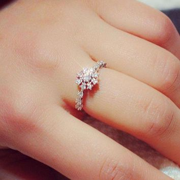 LMFCT9 Jewelry New Arrival Shiny Gift Korean Stylish Couple Ring [11372236308]