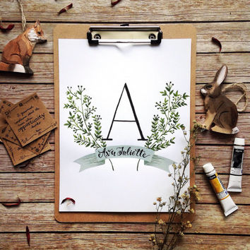 Personalized Nursery Name Print
