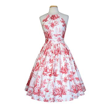 Emily Dress in Red Toile