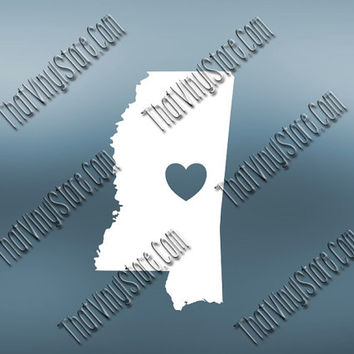 Mississippi Decal | Homestate Decals | I Love Mississippi | Love Sticker | Love Decal  | Car Decal | Car Stickers | 483