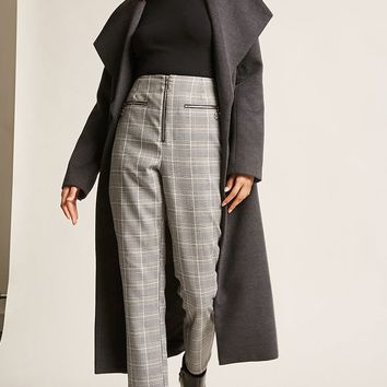 Brushed Knit Wrap Coat
